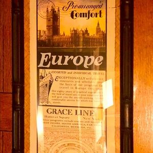 Framed decor picture Europe